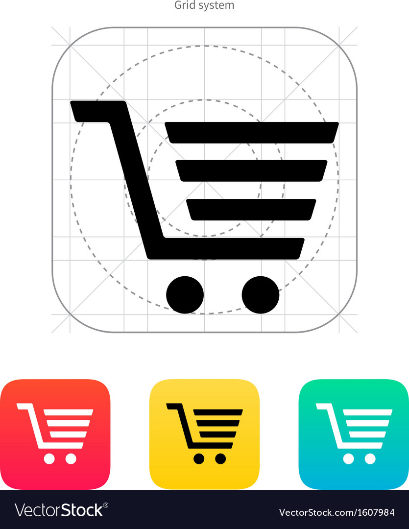 Shopping cart trolley icon vector | Price: 1 Credit (USD $1)