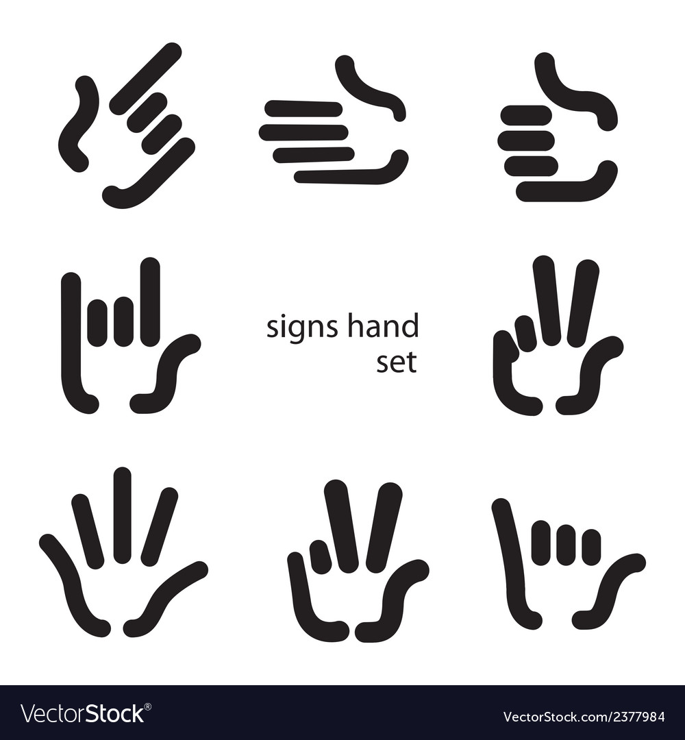 Signs hand vector | Price: 1 Credit (USD $1)