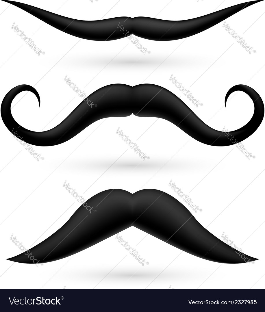 A set of three moustache vector | Price: 1 Credit (USD $1)