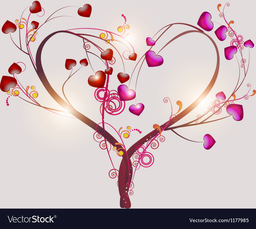 Abstract tree symbolizing love vector | Price: 1 Credit (USD $1)