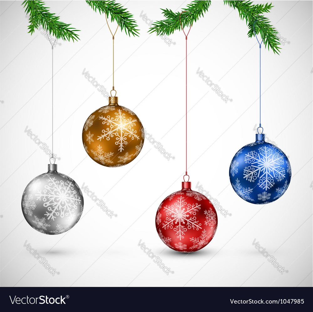 Christmas balls hanging vector | Price: 1 Credit (USD $1)