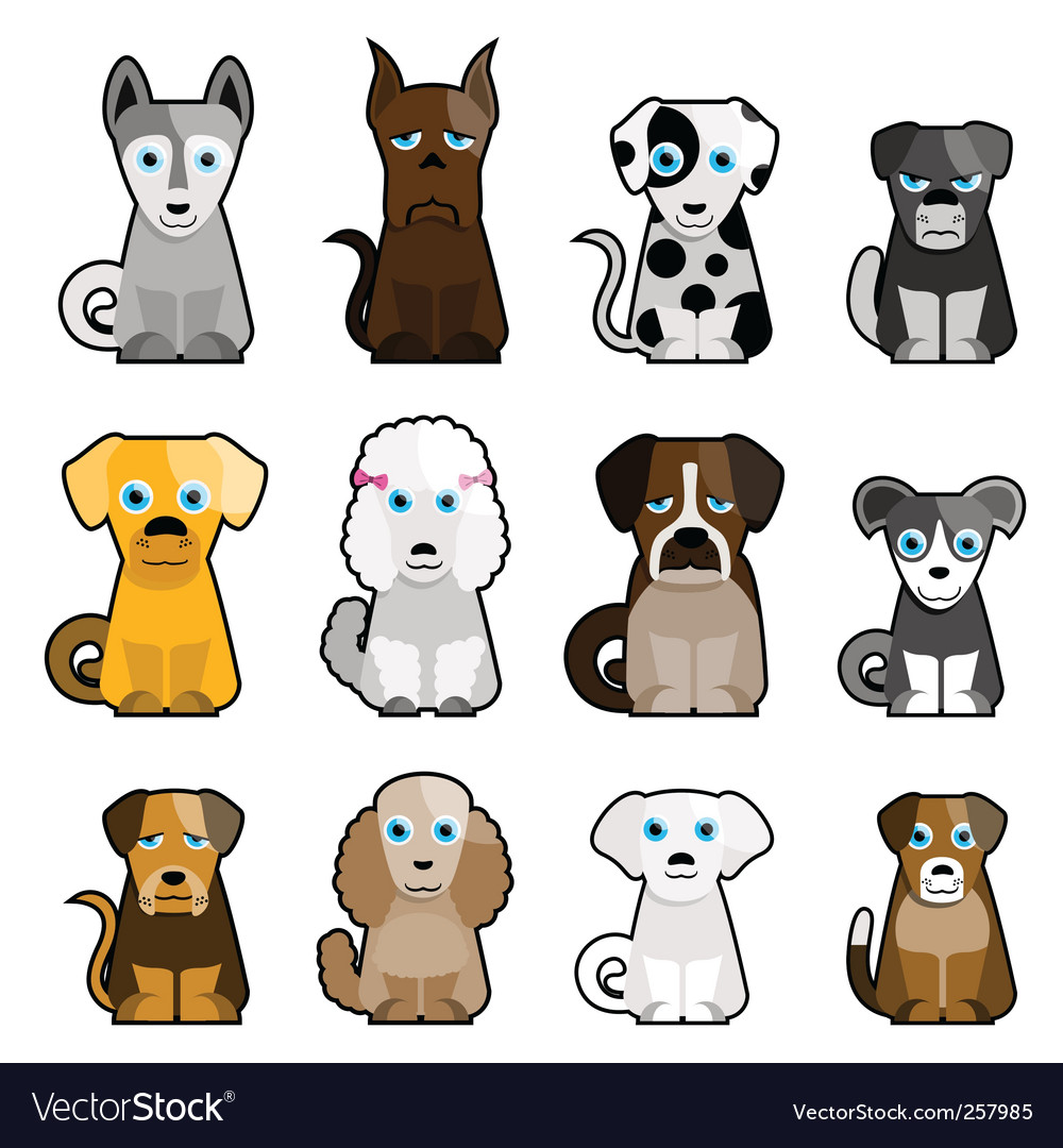 Cute dogs vector | Price: 1 Credit (USD $1)