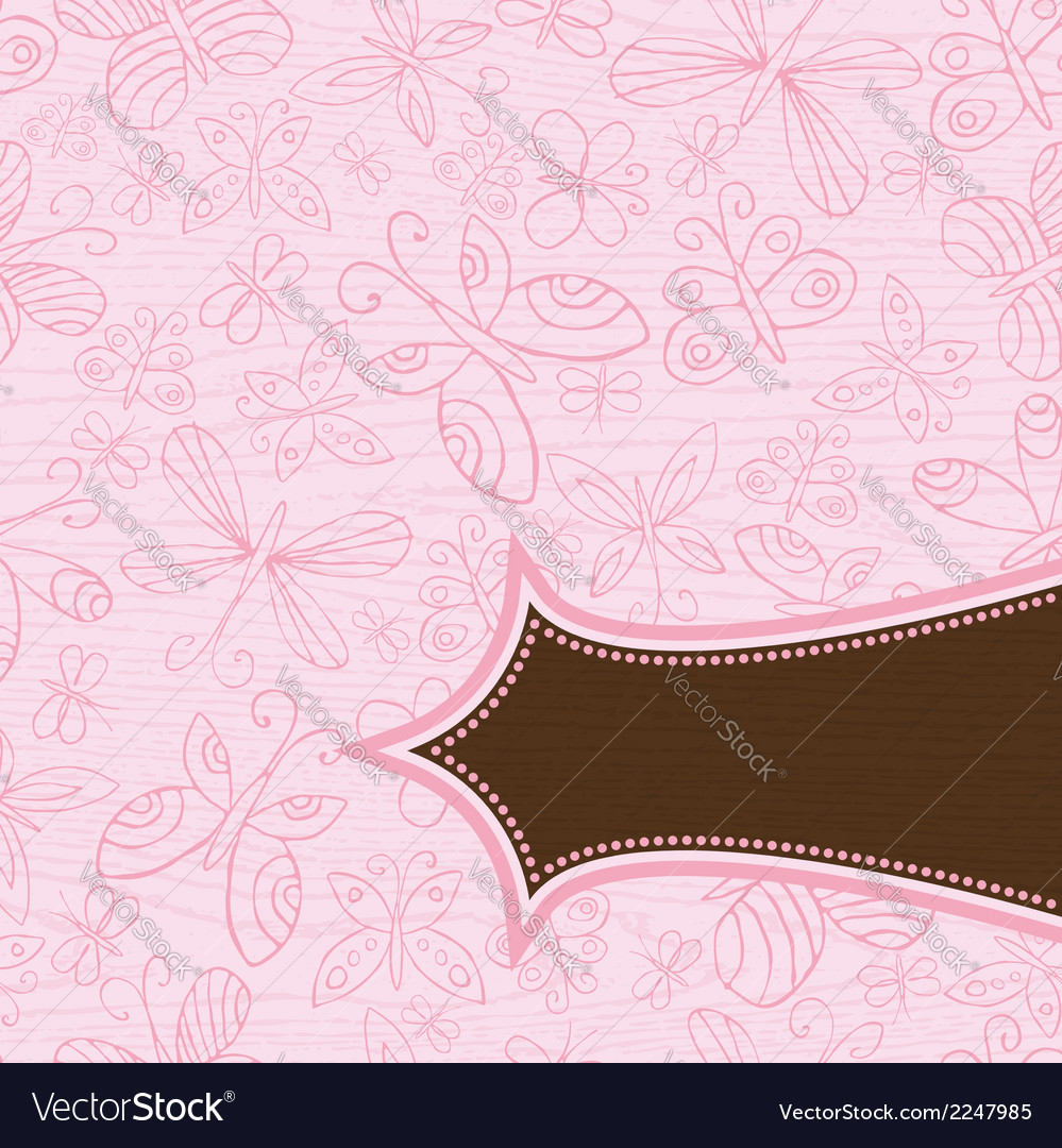 Grunge wooden pink background with pattern of hand vector | Price: 1 Credit (USD $1)