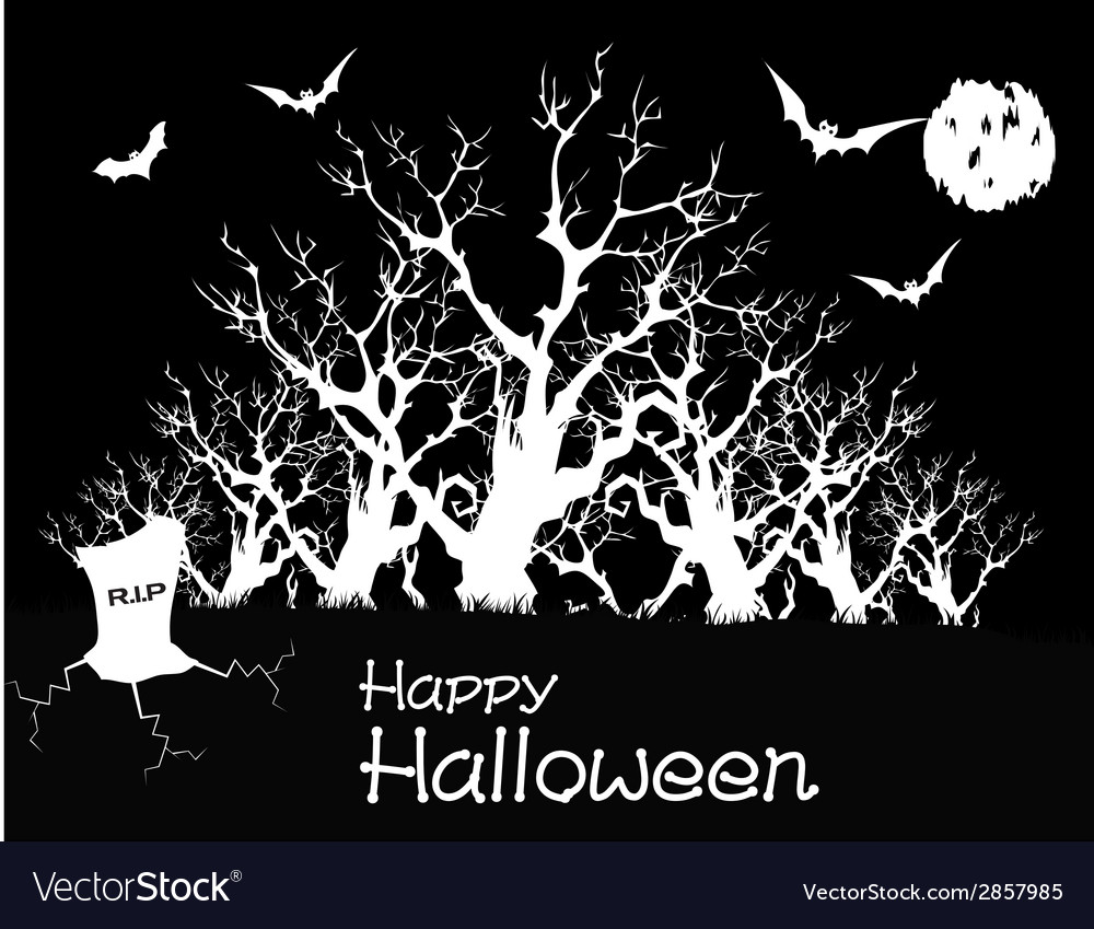 Happy halloween party poster vector | Price: 1 Credit (USD $1)