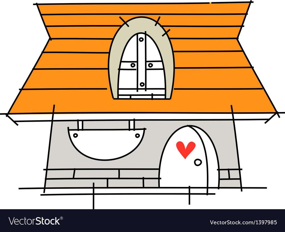 Icon house vector | Price: 1 Credit (USD $1)