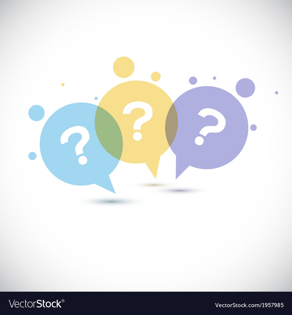 Modern question mark icon vector | Price: 1 Credit (USD $1)