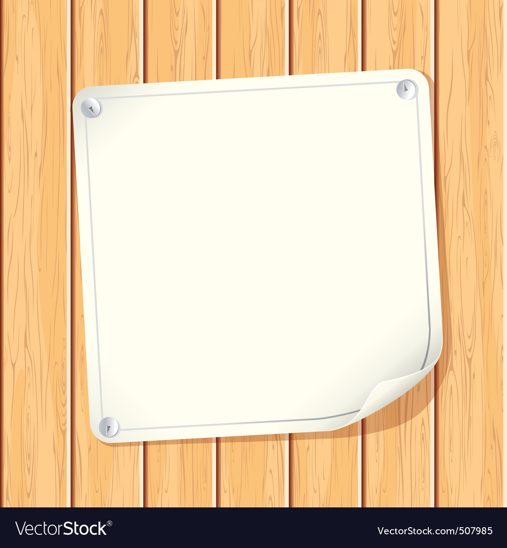 Paper sign on wall vector | Price: 1 Credit (USD $1)