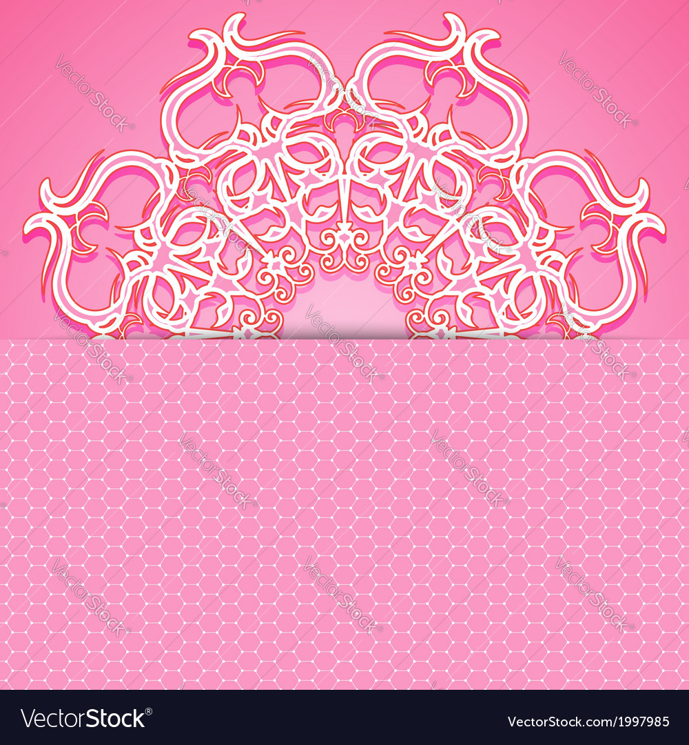 Pink greeting card vector