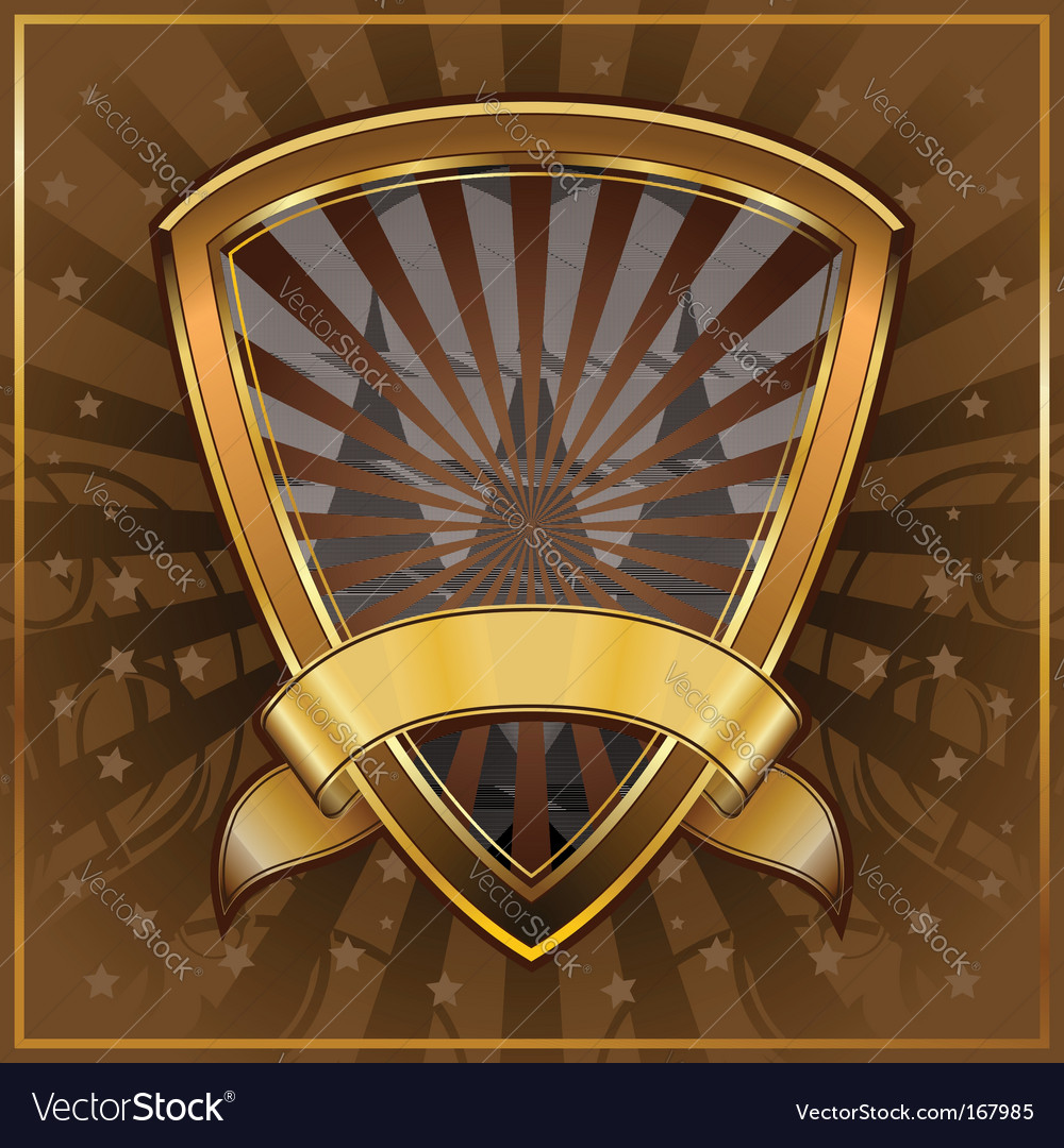 Shield frame vector | Price: 1 Credit (USD $1)
