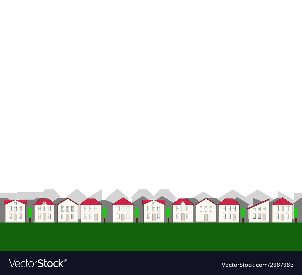 Small seamless real estate border vector | Price: 1 Credit (USD $1)
