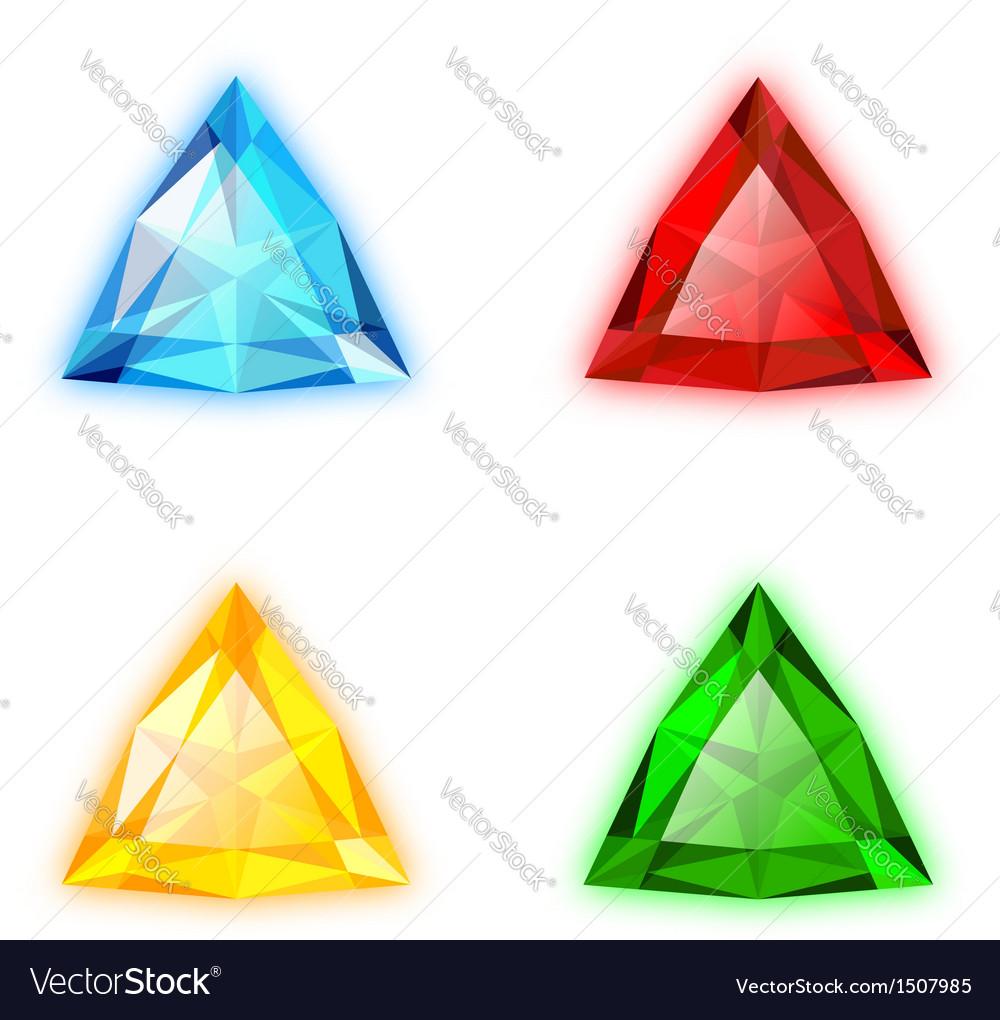 Trilliant shaped gems set vector | Price: 1 Credit (USD $1)