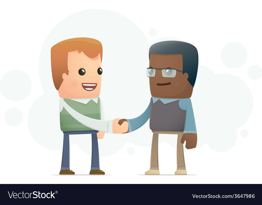 Agreement between two scientists vector | Price: 1 Credit (USD $1)