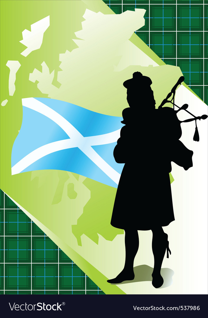 Bagpiper vector | Price: 1 Credit (USD $1)