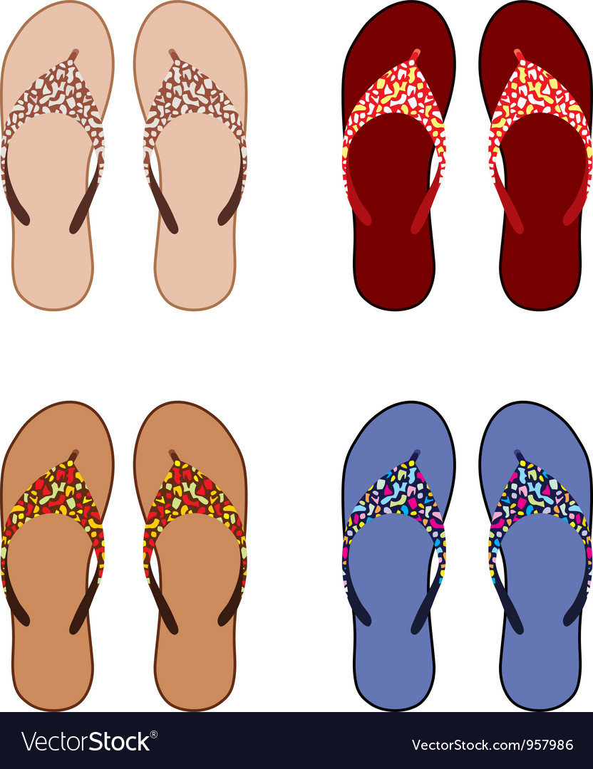 Beach slippers vector   Price: 1 Credit (USD $1)