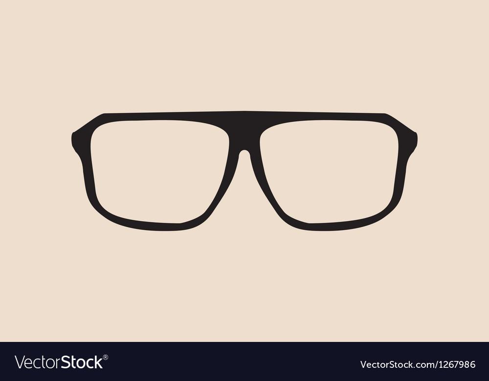 Big black eye glasses vector | Price: 1 Credit (USD $1)