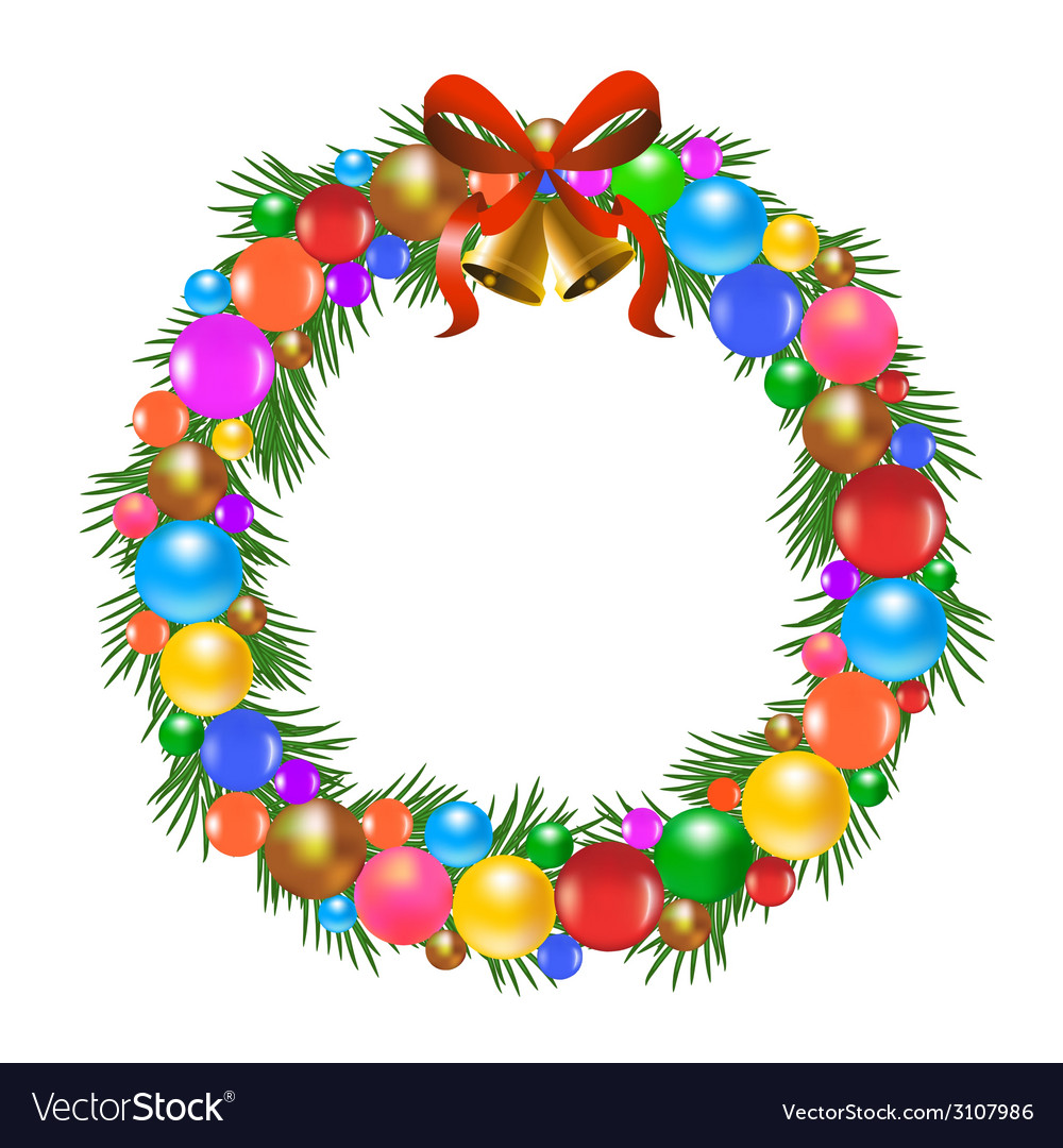 Christmas wreath vector | Price: 1 Credit (USD $1)
