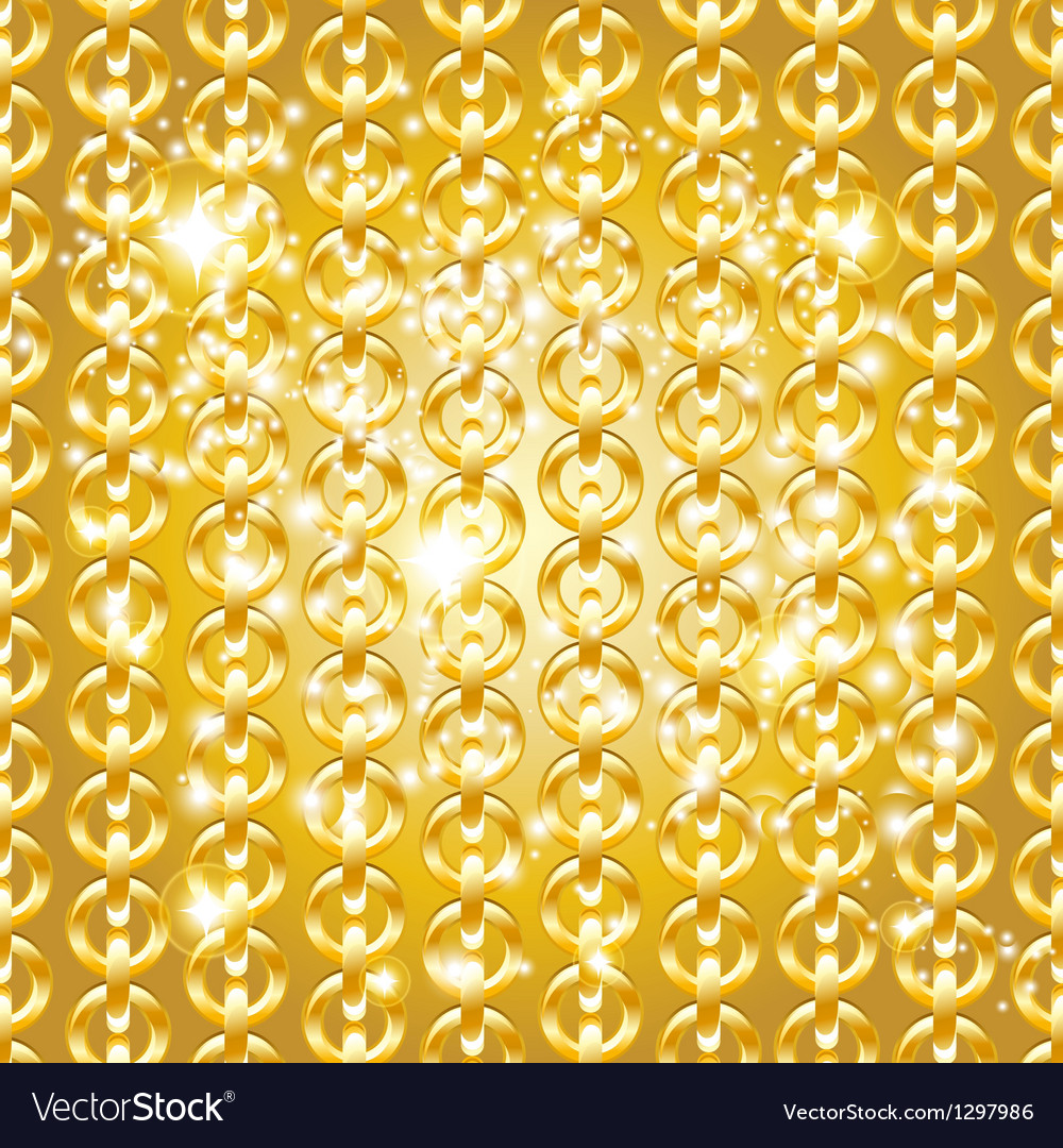 Gold chain seamless abstract pattern vector | Price: 1 Credit (USD $1)