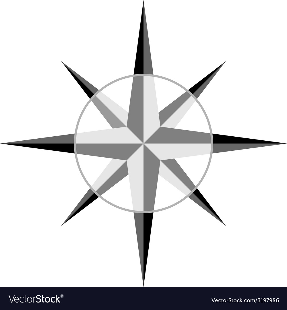 Gray windrose vector | Price: 1 Credit (USD $1)