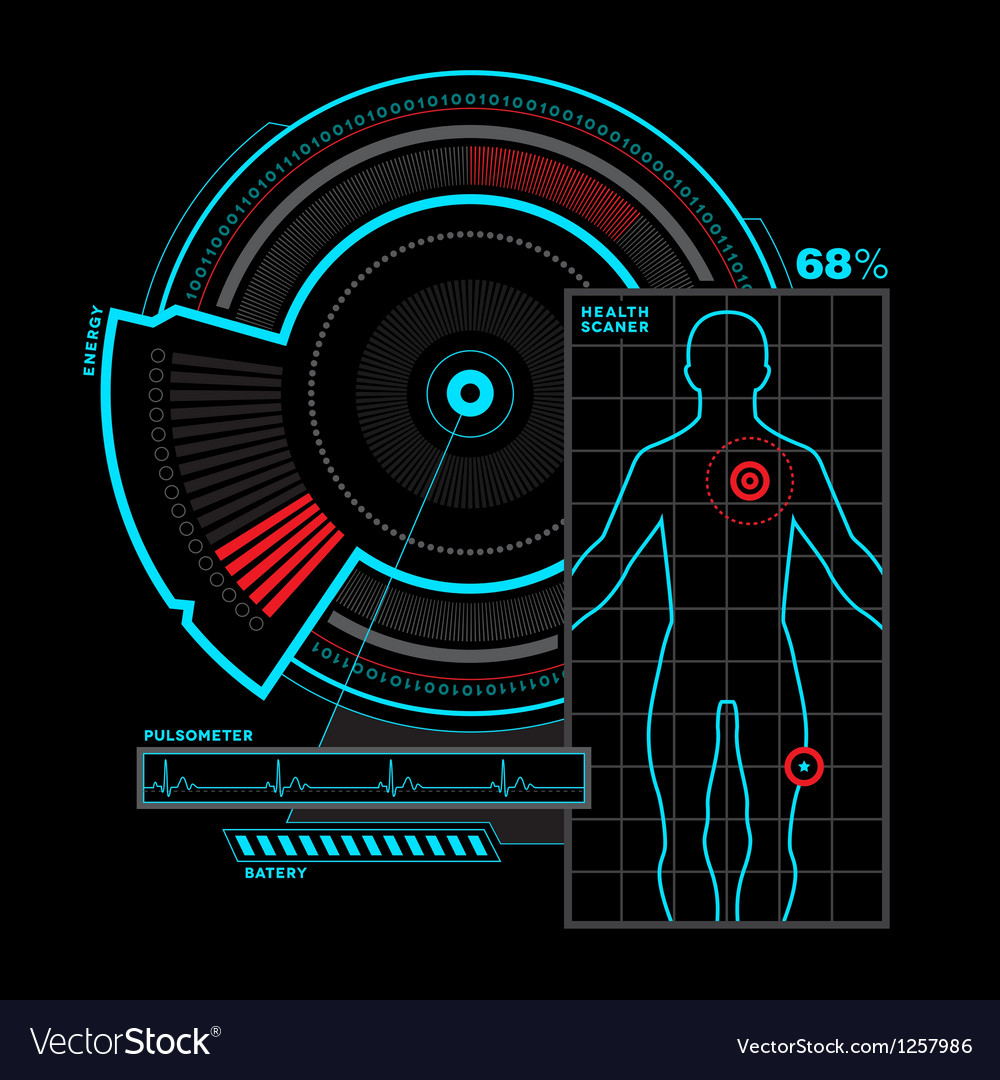 Health scanner interface vector | Price: 1 Credit (USD $1)