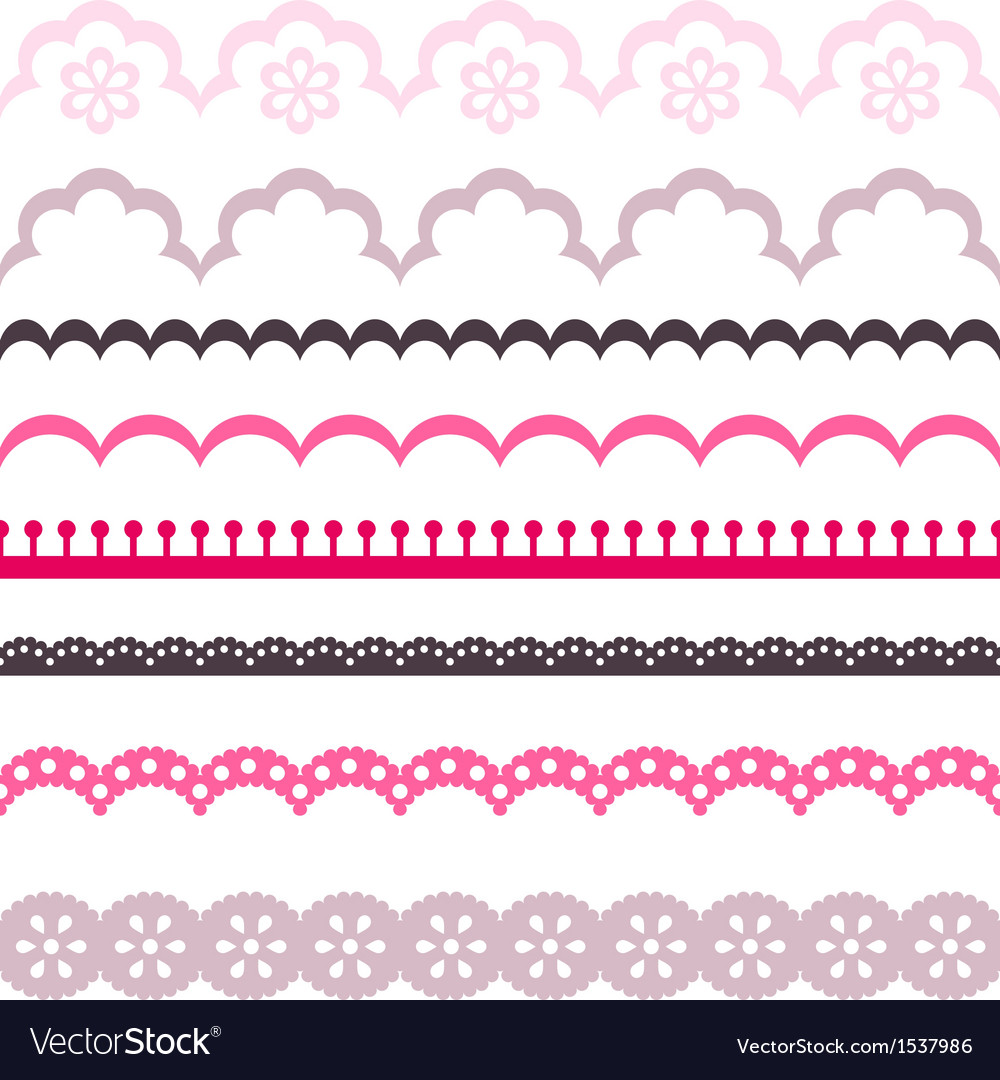 Old lace ribbons abstract ornament texture vector | Price: 1 Credit (USD $1)