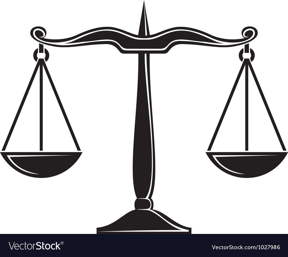 Scales of justice symbol vector | Price: 1 Credit (USD $1)