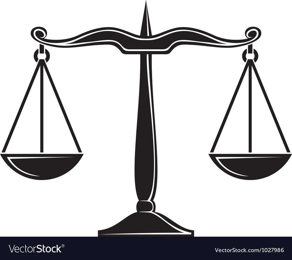 Scales of justice symbol vector | Price: 1 Credit (USD $1)