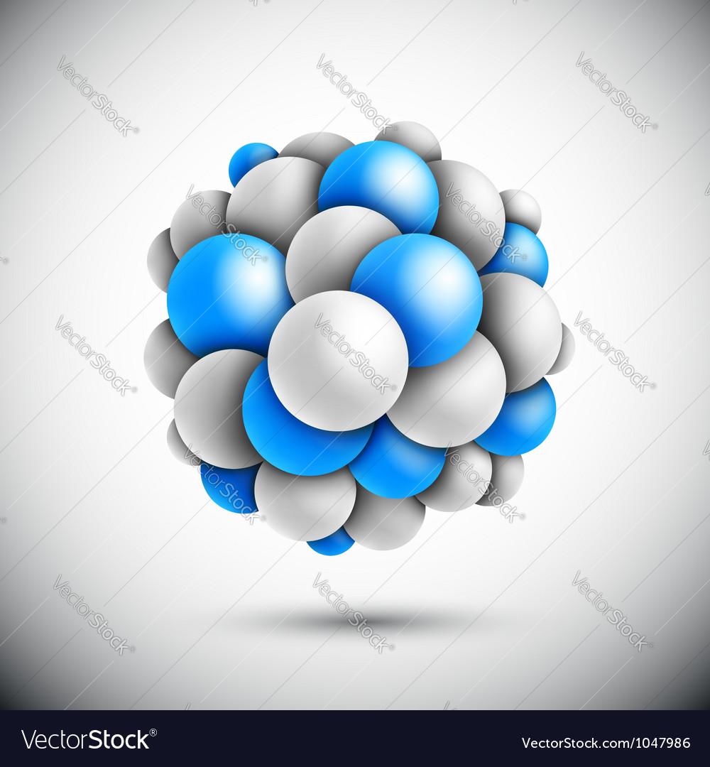 Sphere in form of the molecule vector | Price: 1 Credit (USD $1)