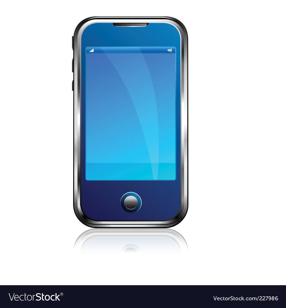 Stylish blue cell phone vector | Price: 1 Credit (USD $1)