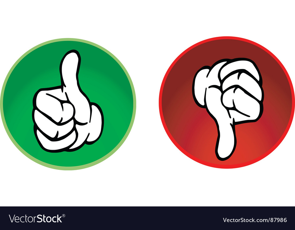 Thumbs up and down buttons vector | Price: 1 Credit (USD $1)