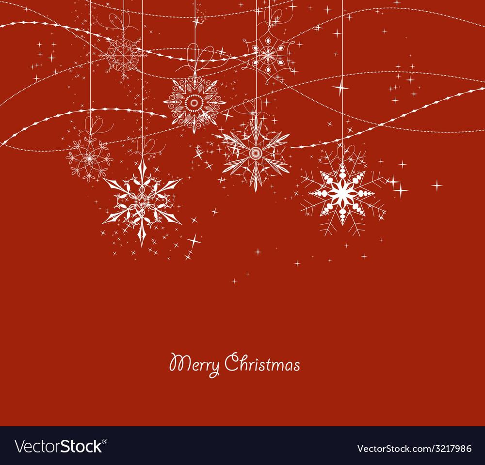 Xmas doodle snowflakes vector | Price: 1 Credit (USD $1)
