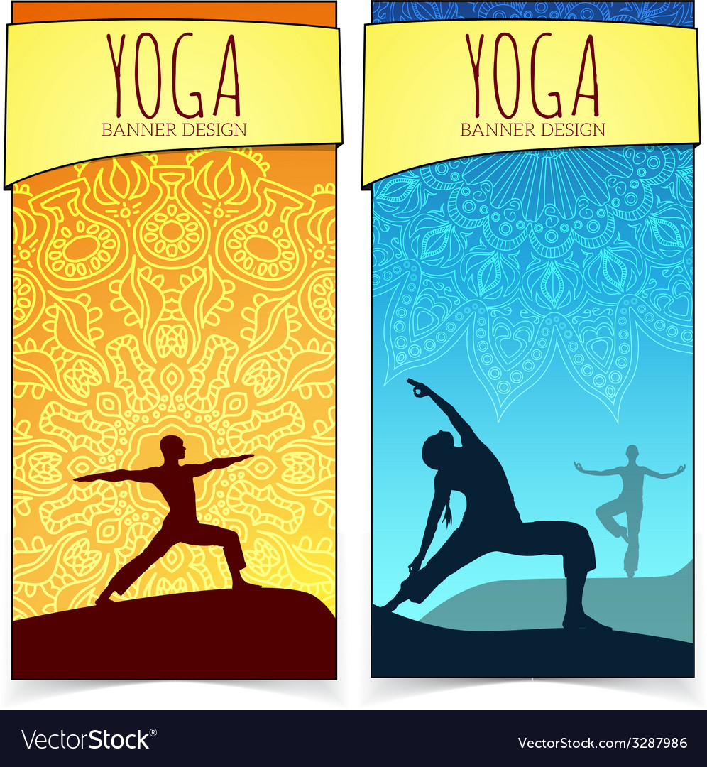 Yoga banner collection vector   Price: 1 Credit (USD $1)