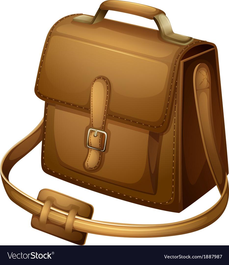 A brown shoulder bag vector | Price: 1 Credit (USD $1)