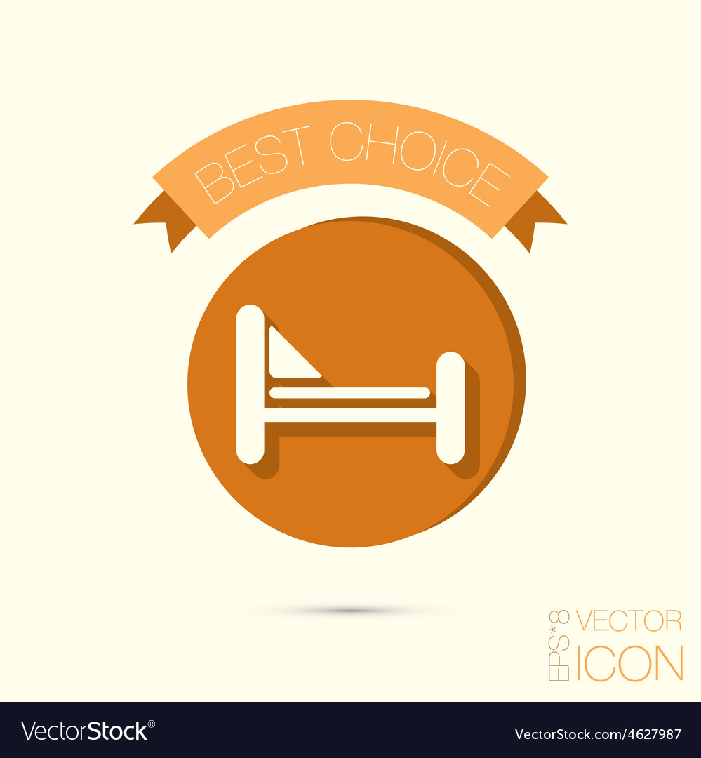 Bed symbol sign symbol or hotel stay vector | Price: 1 Credit (USD $1)