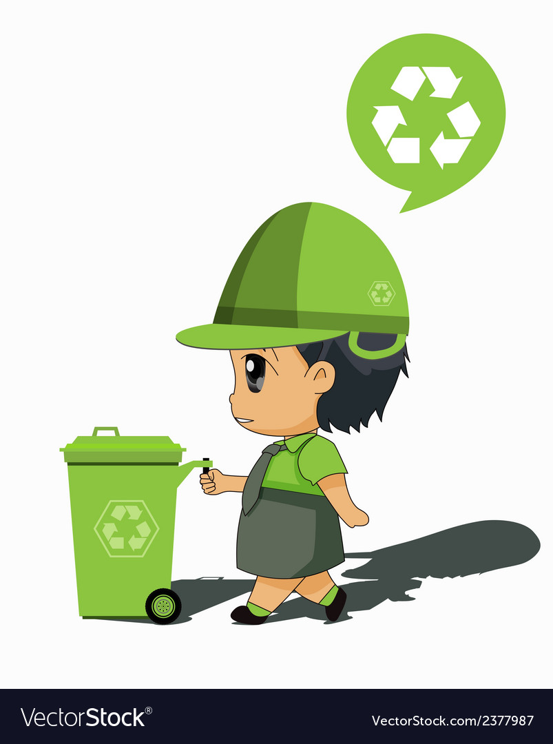 Children to recycle vector | Price: 1 Credit (USD $1)