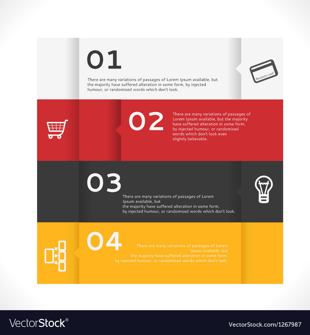 Infographic banners vector