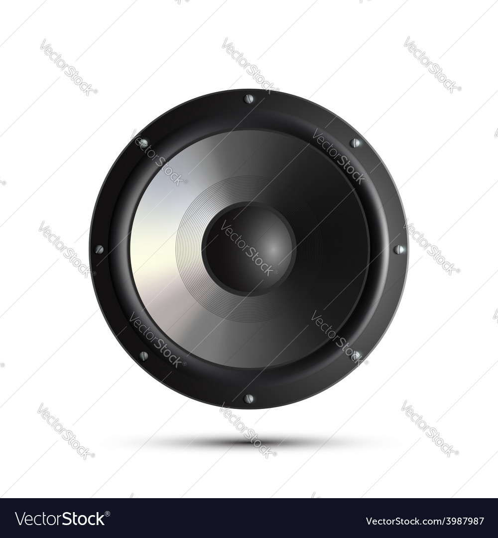 Musical speker isolated on a white background vector | Price: 1 Credit (USD $1)