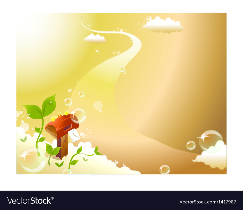 Sky letterbox background vector | Price: 1 Credit (USD $1)