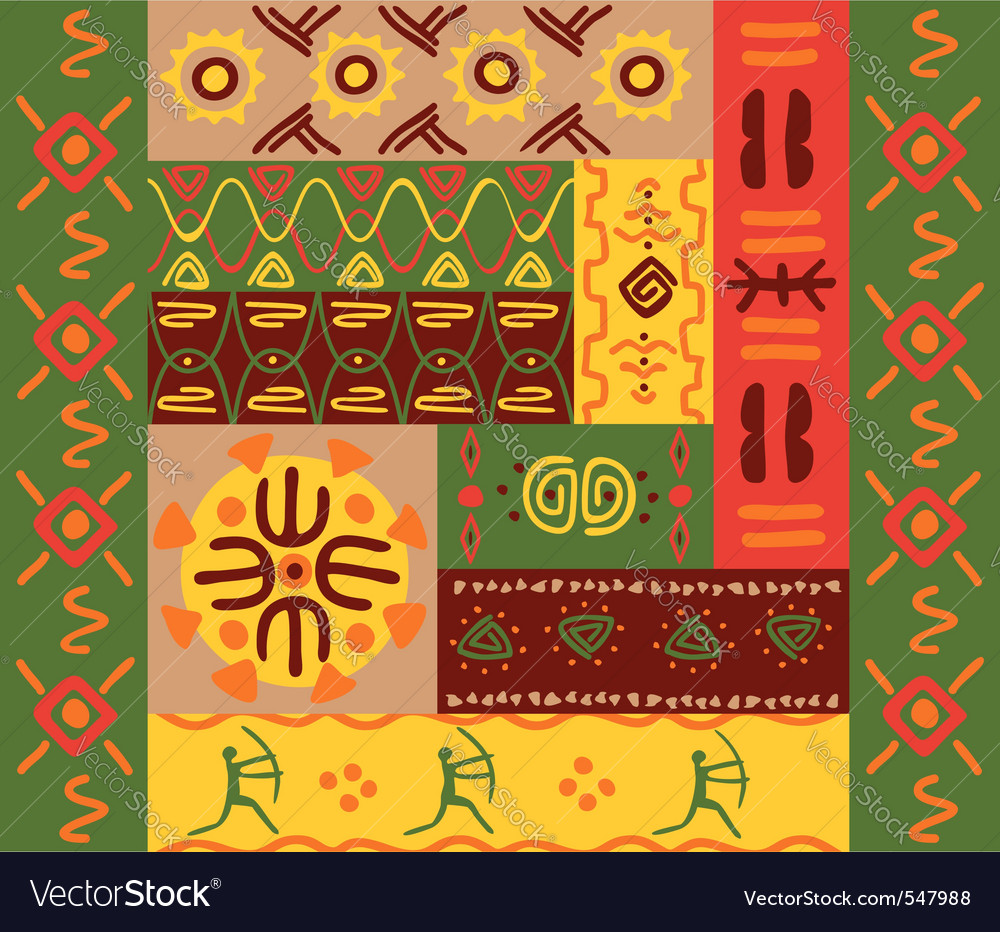 Abstract ethnic patterns vector | Price: 1 Credit (USD $1)