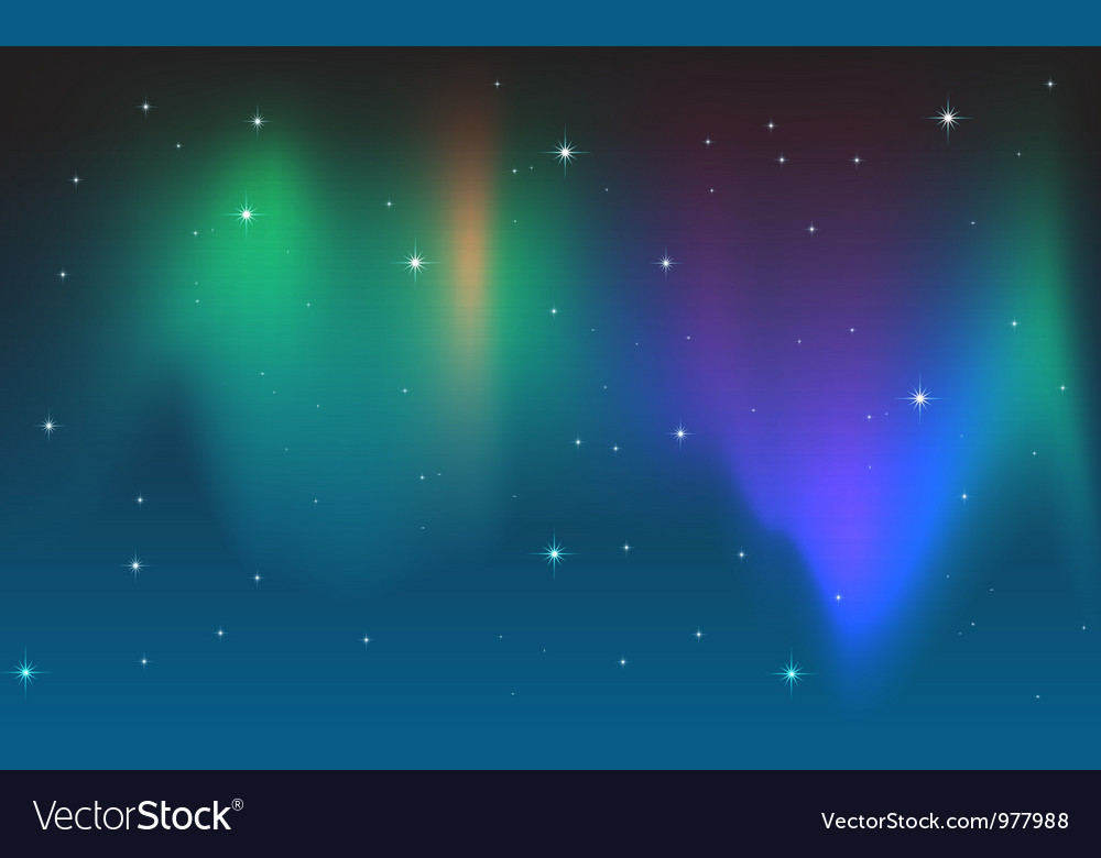 Aurora in the sky vector | Price: 1 Credit (USD $1)