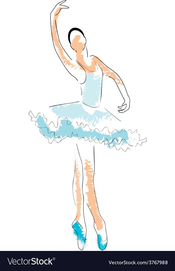 Ballerina drawing vector | Price: 1 Credit (USD $1)