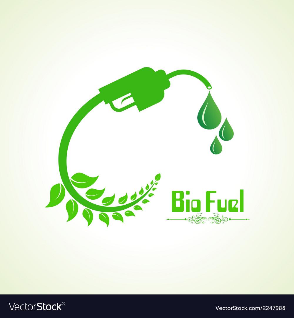 Bio fuel concept with nozzle vector | Price: 1 Credit (USD $1)