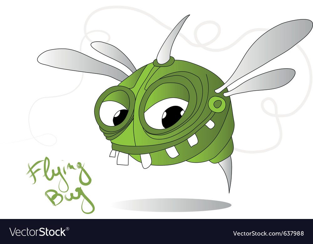 Flying bug vector | Price: 1 Credit (USD $1)