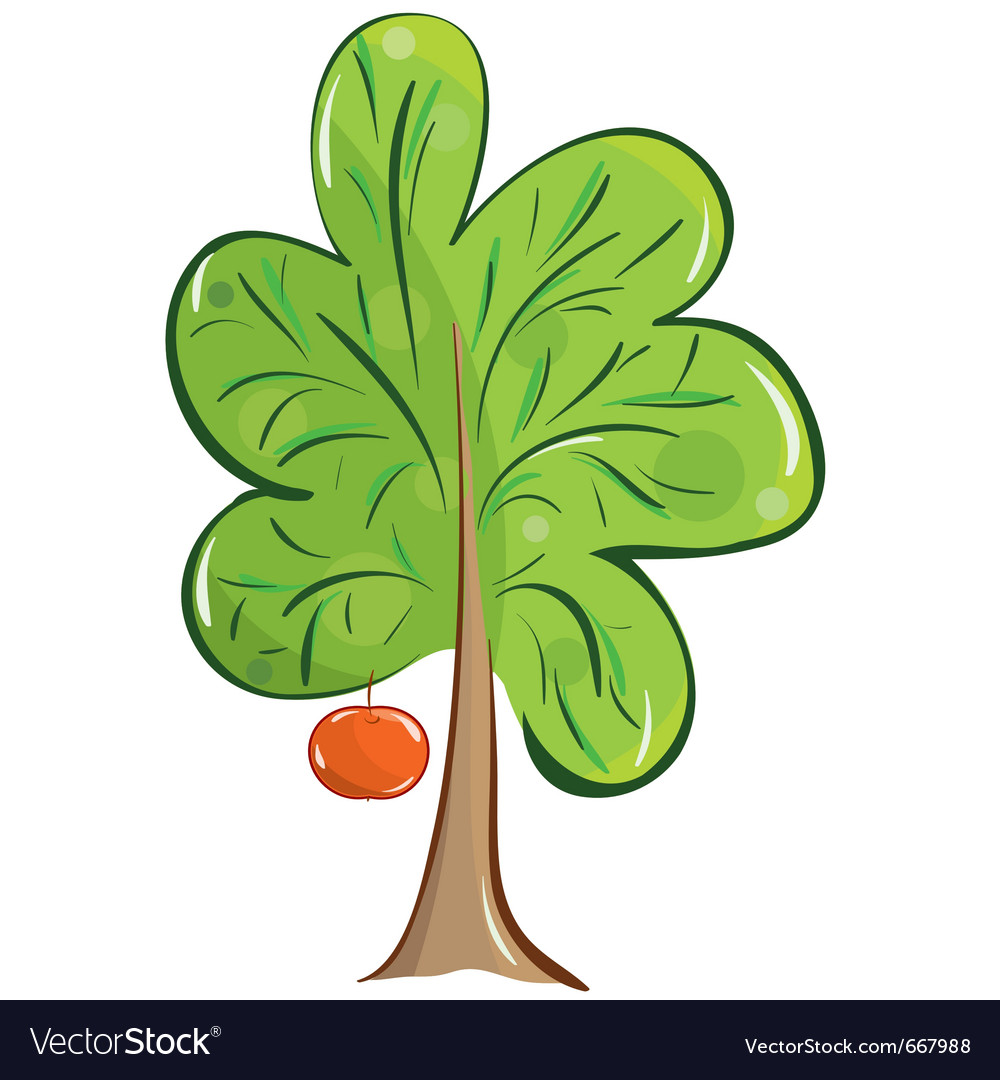 Green fruit tree vector | Price: 1 Credit (USD $1)