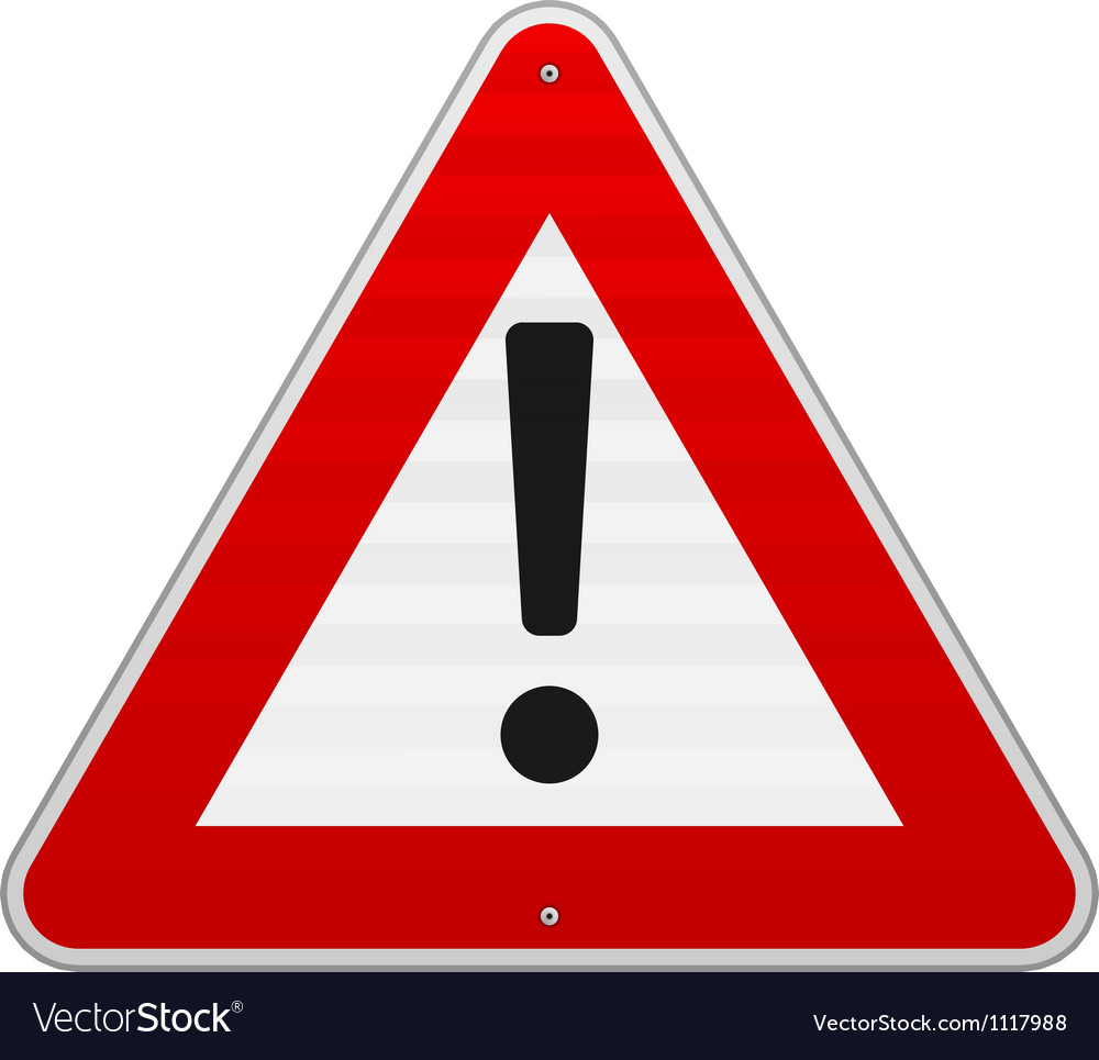 Isolated alert triangle sign vector | Price: 1 Credit (USD $1)