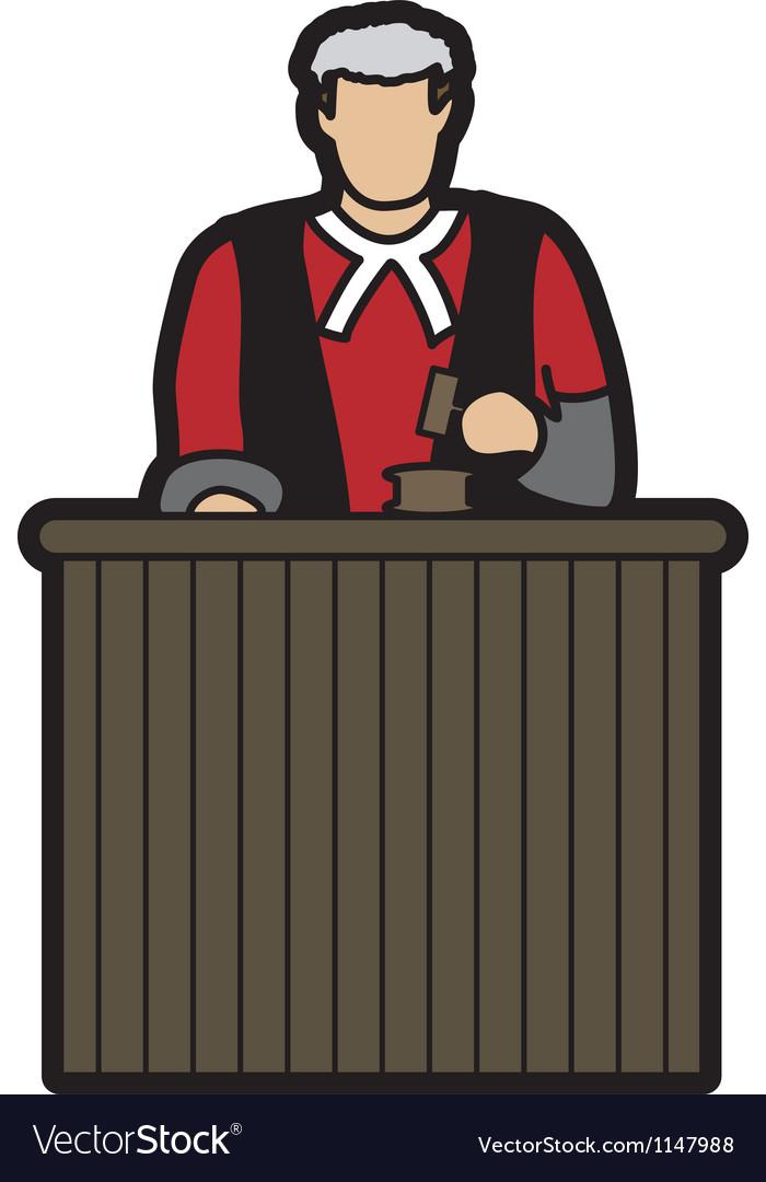 Judge cartoon vector | Price: 1 Credit (USD $1)