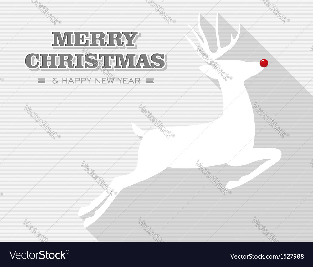 Merry christmas rudolph reindeer vector | Price: 1 Credit (USD $1)
