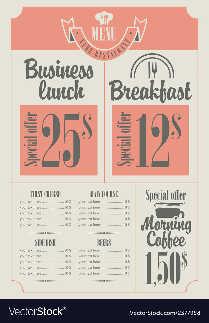 Price list vector | Price: 1 Credit (USD $1)