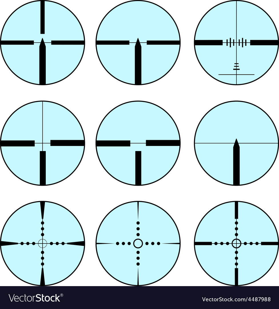 Set of different sights for weapons vector | Price: 1 Credit (USD $1)