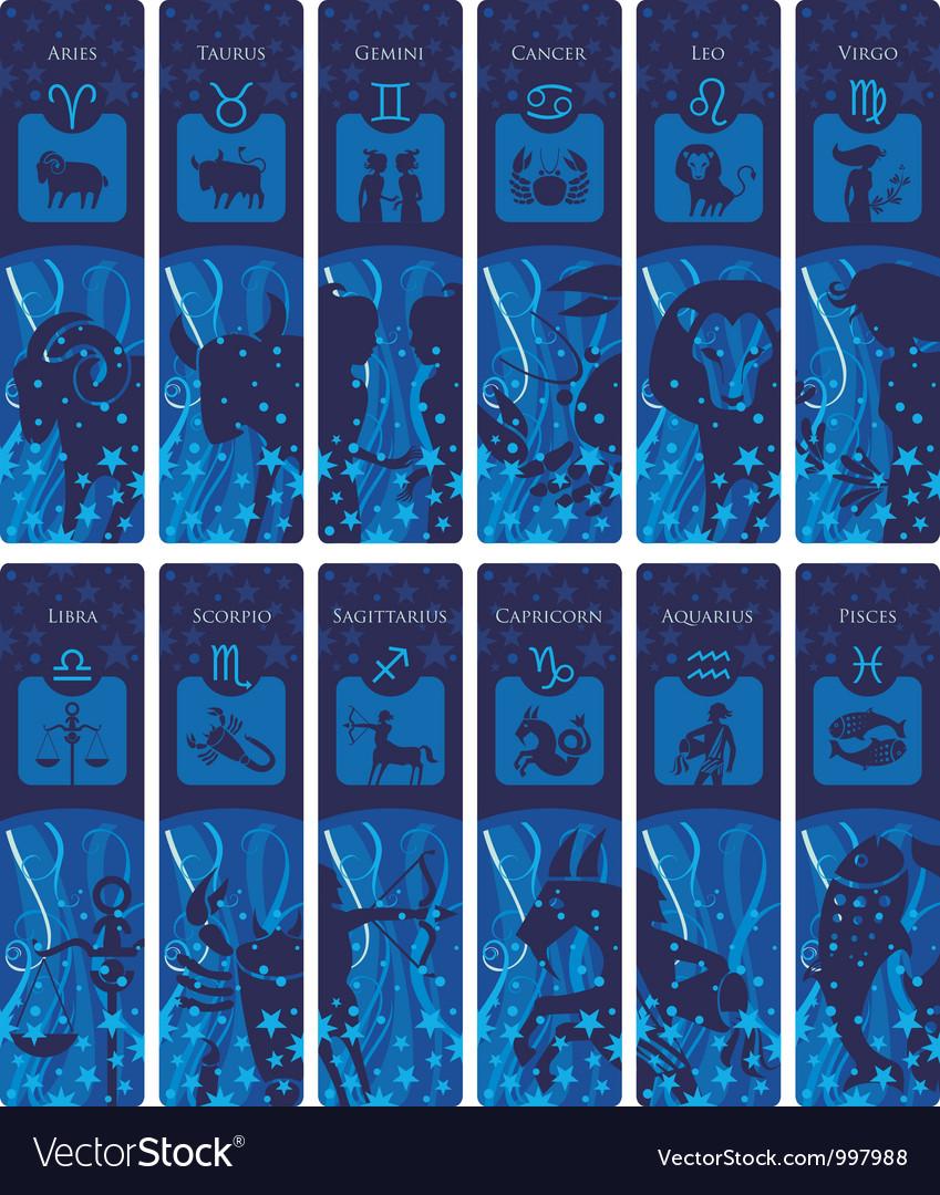 Zodiac bookmarks vector   Price: 3 Credit (USD $3)