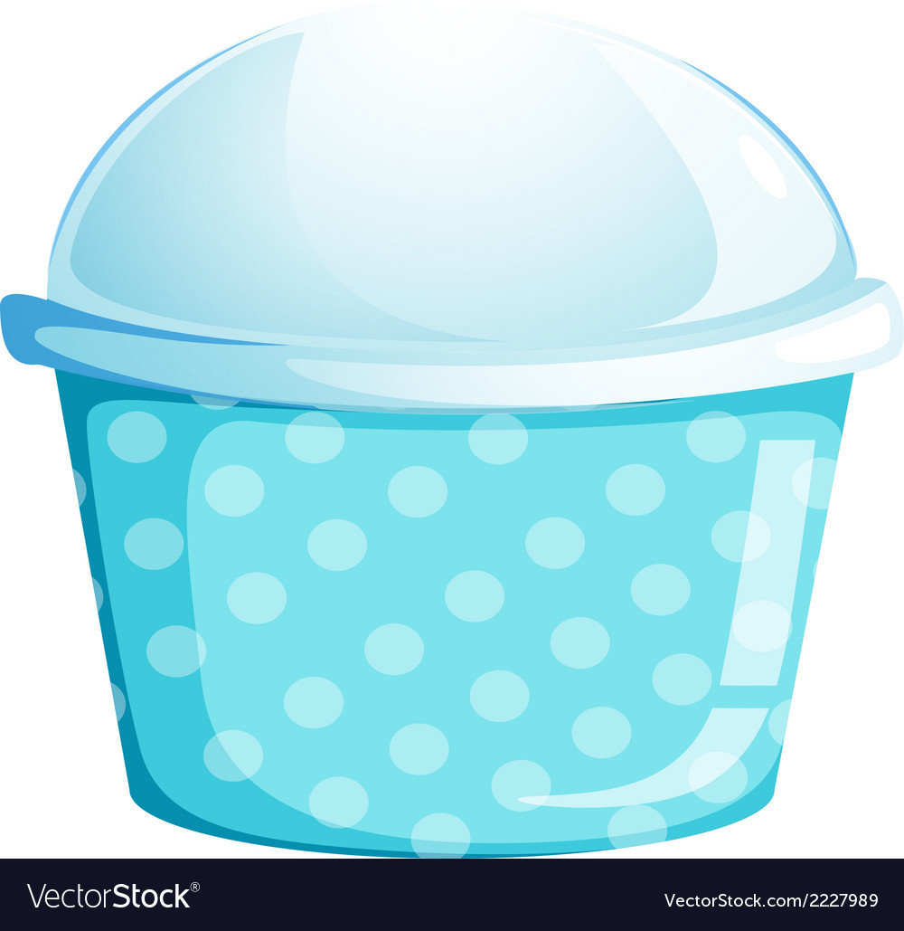 A blue cupcake container vector | Price: 1 Credit (USD $1)